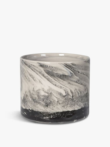 Black Marble Ceramic Pot