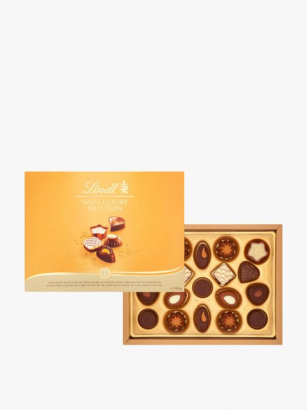 Lindt Swiss Luxury Selection Chocolate Box 195g