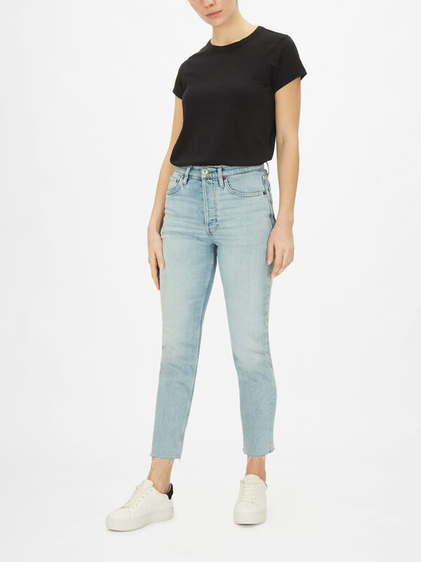90s High Rise Ankle Crop