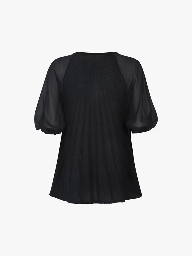 Pioggia Knitted Pleated Top