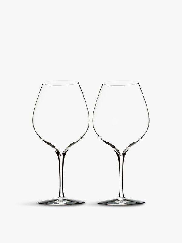 Elegance Merlot Wine Glass Pair