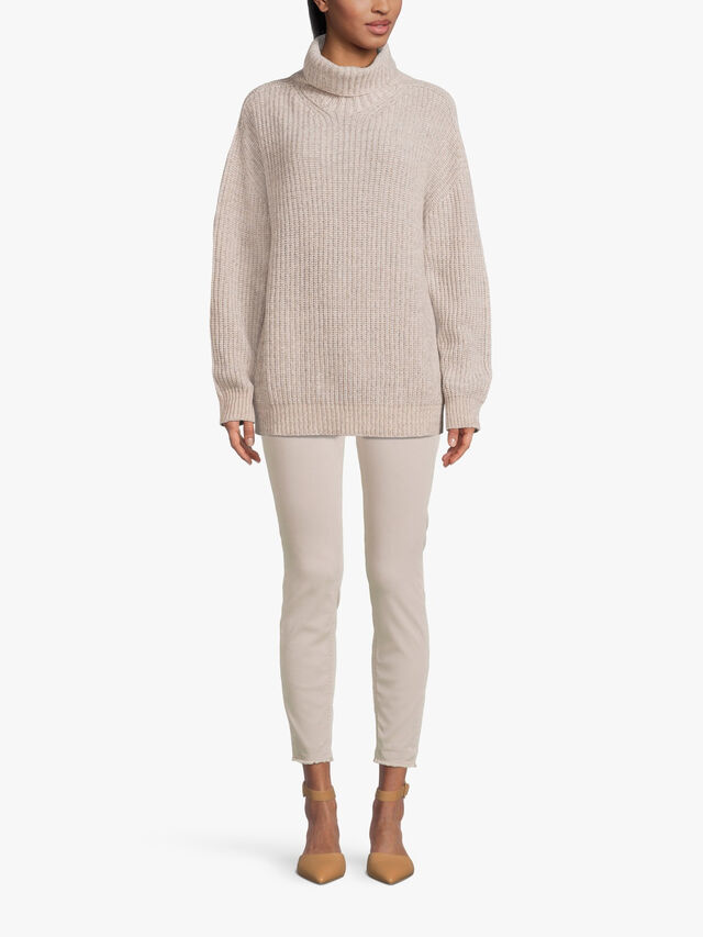 Chunky Textured Roll Neck Knit
