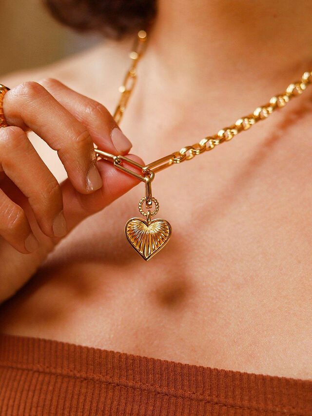 Heart Deconstructed Axiom Necklace