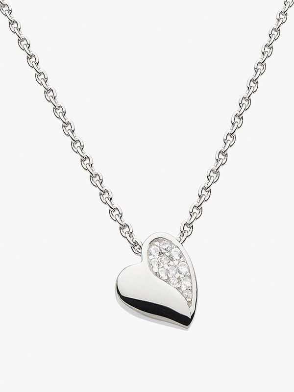 Minature Sparkle Heart Necklace