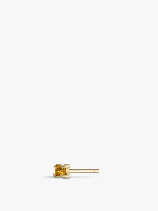 Single Citrine Stud