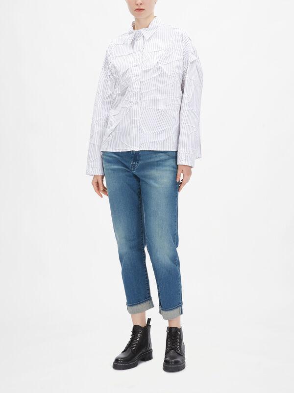 Crushed Stripe Shirt