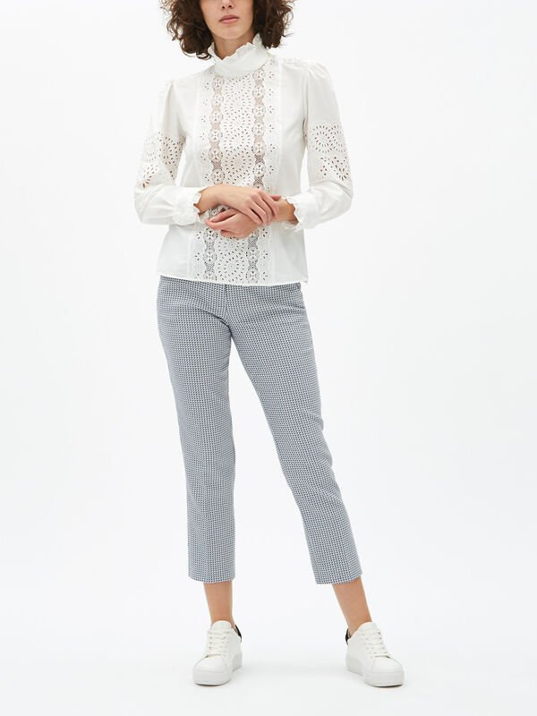 Nocino Embroidered Cotton Blouse