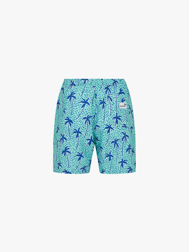 Flair Palm Mid Length Swim Shorts