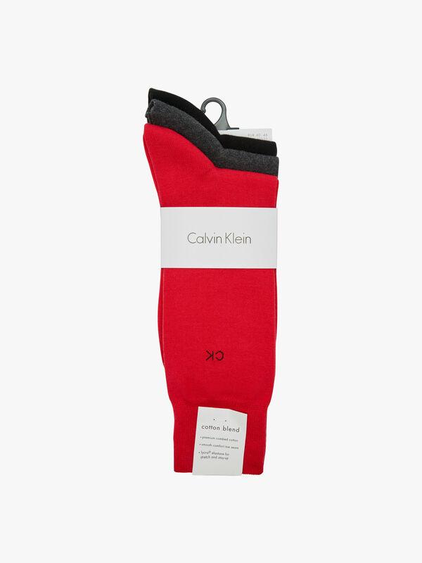 3 Pack Flat Knit Socks