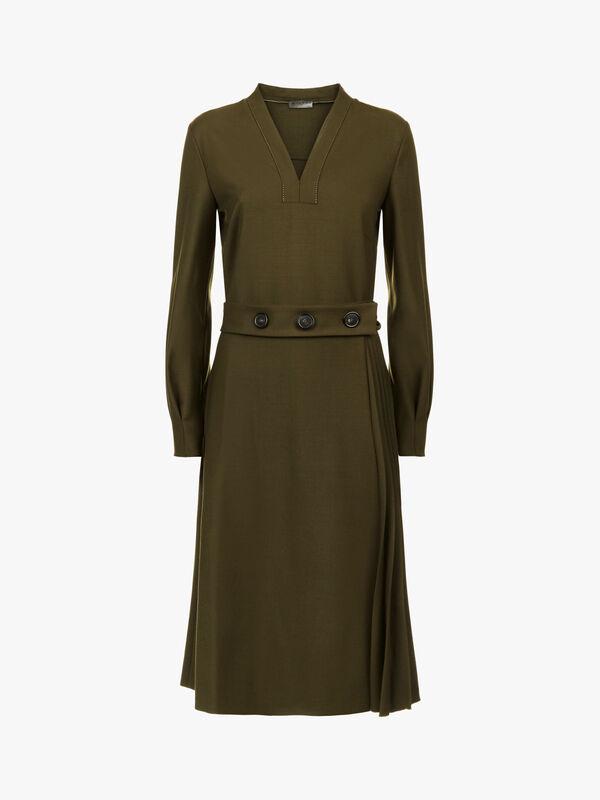 Button Waist Detail Dress