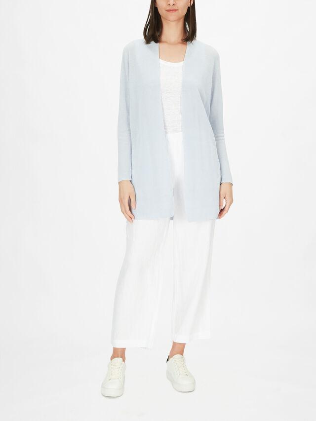 Organic Cotton Linen Long Cardigan