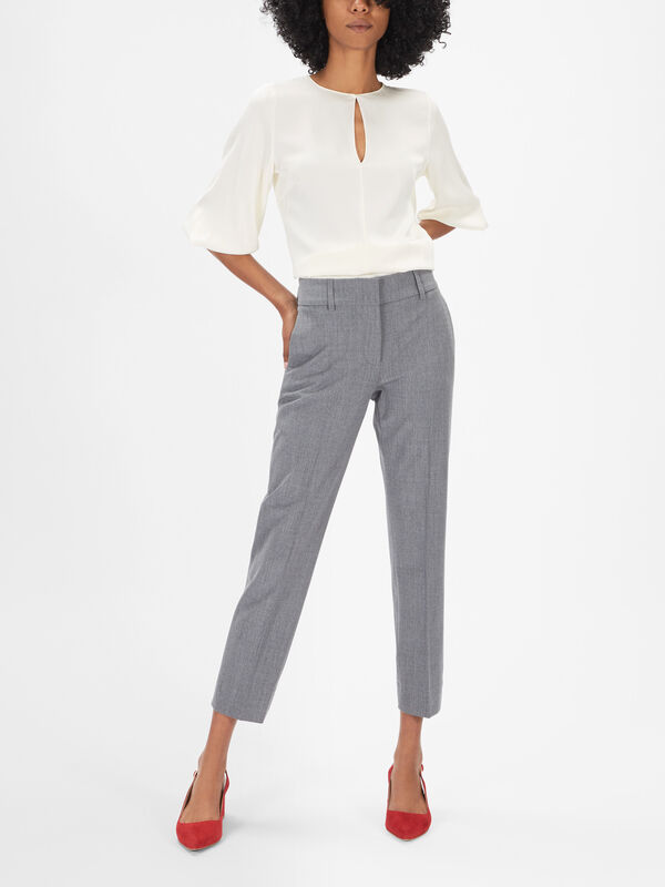 Kim Heavy Wool Slim Trousers