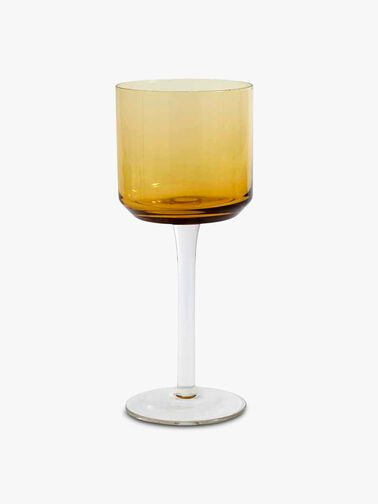 Retro White Wine Glass