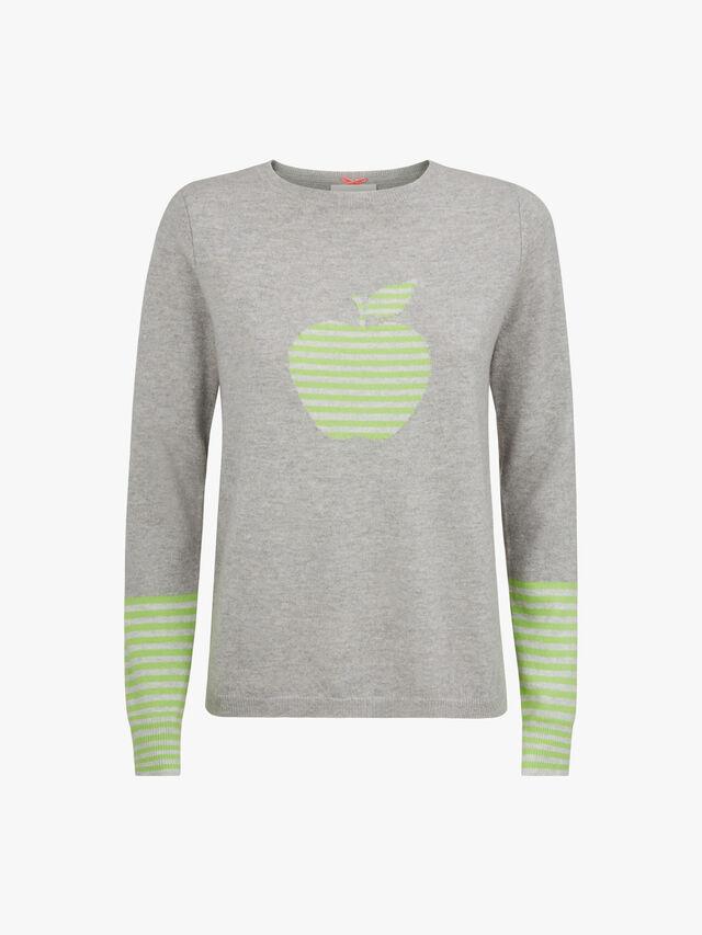 Apple Motif Crew Neck Knit