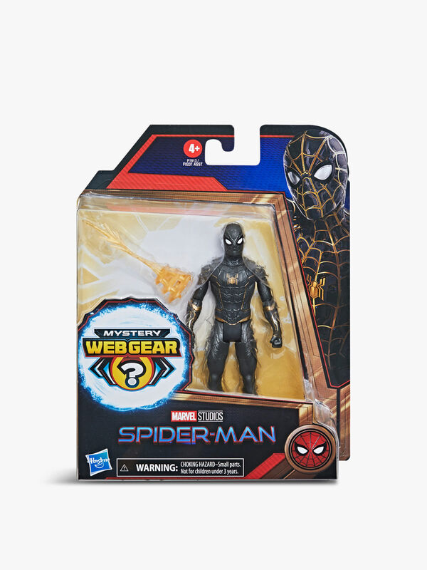 Marvel Spider-Man Mystery Web Gear Black and Gold Suit Spider-Man