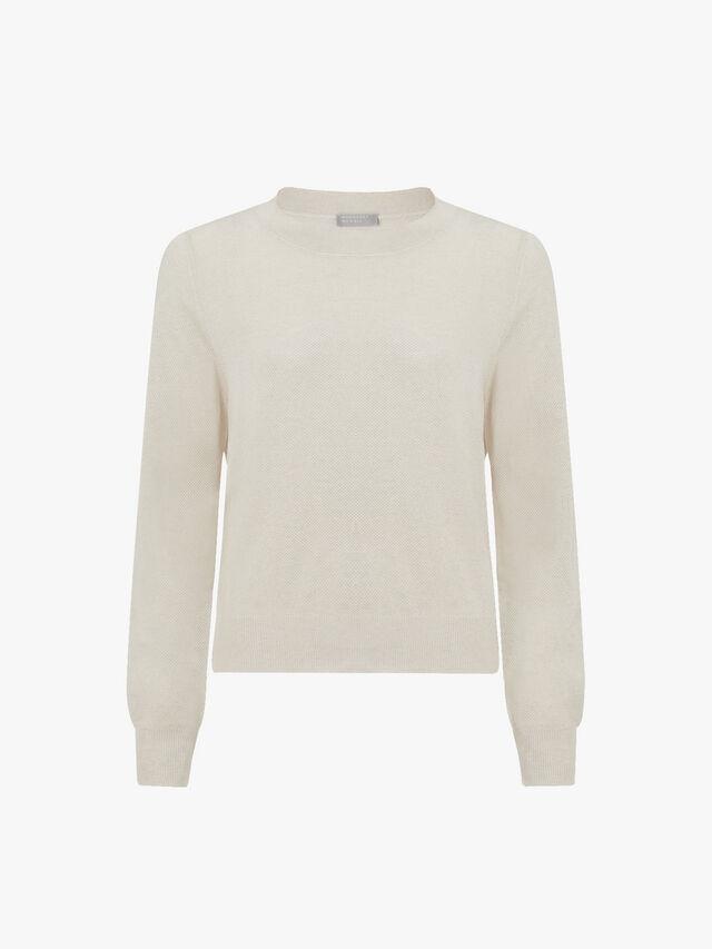 Pique Silk Sweatshirt
