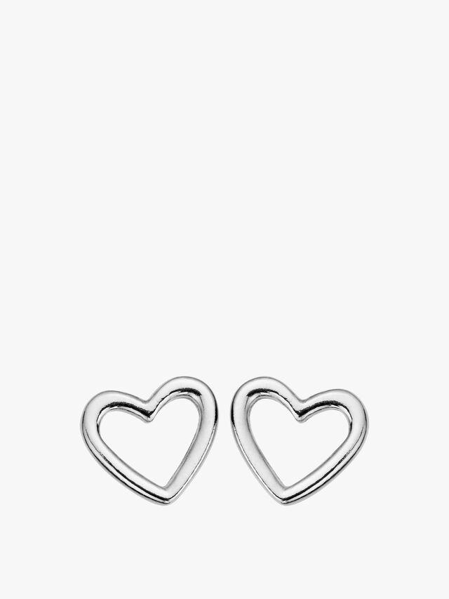 Stud Open Heart Earrings