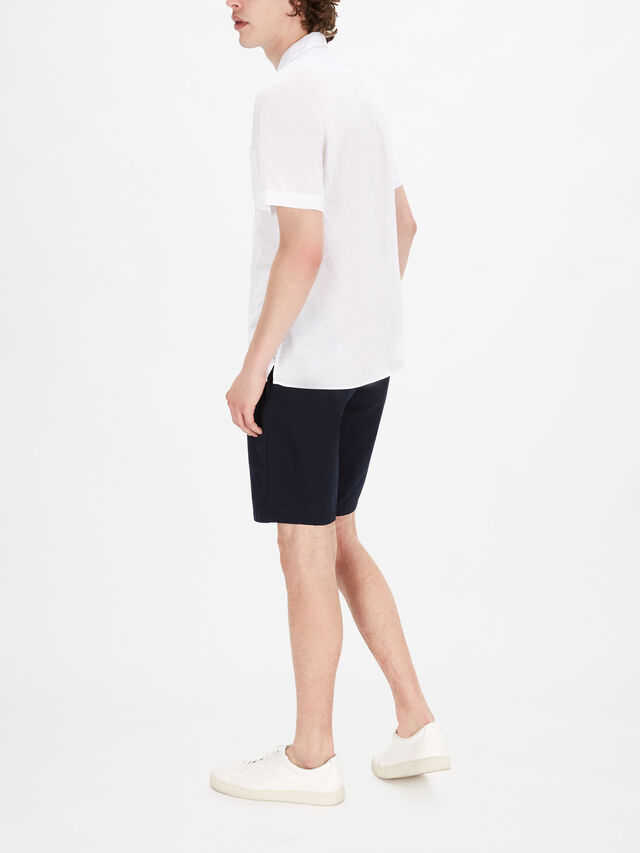 Sammy Voile Short Sleeve Camp Collar Shirt