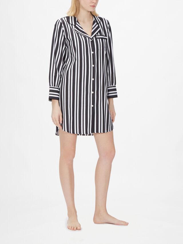 Kensington Long Sleeve Stripe Nightshirt