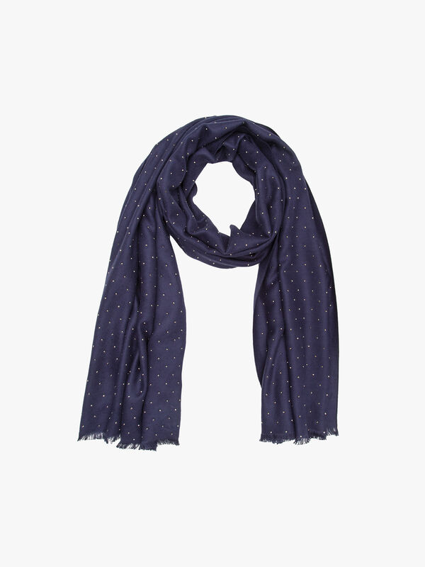 Pashmina style all over studded scarf