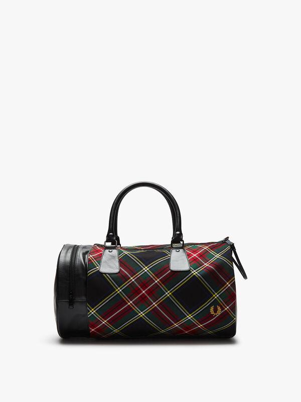 Tartan Barrel Bag