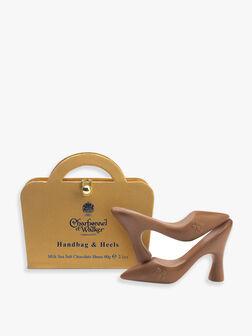 Gold Handbag & Milk Chocolate Shoes