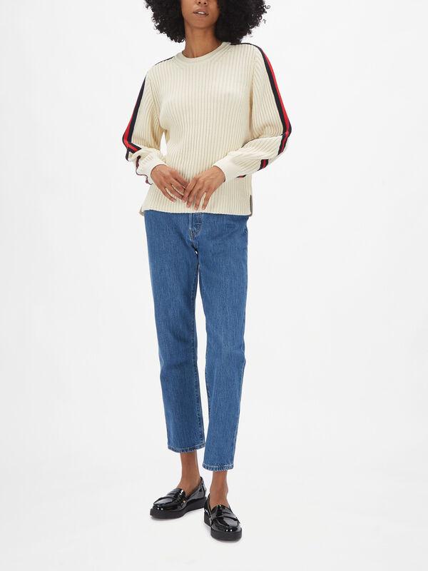 Stripe SleeveTrim Knit