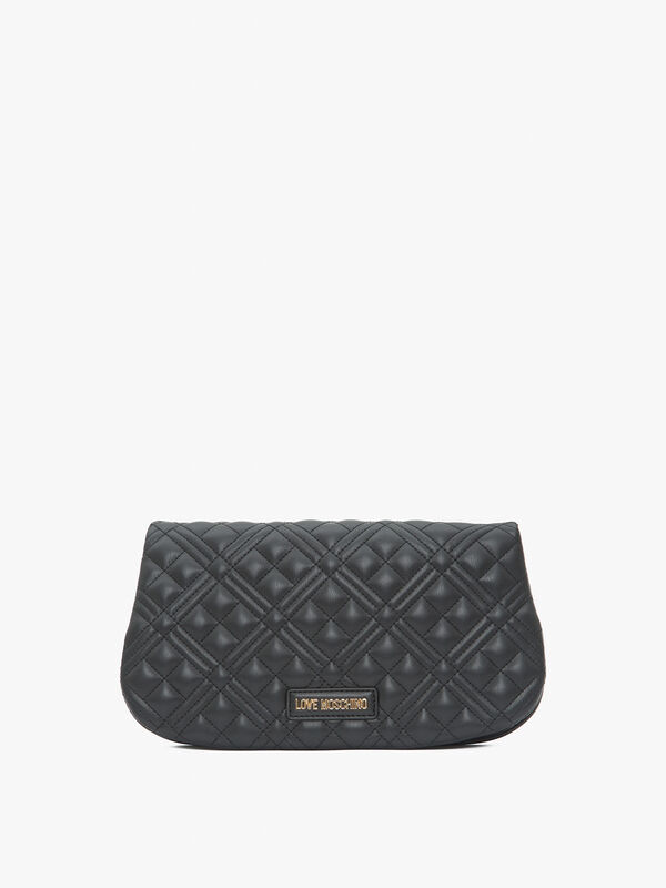 Quilted Curved Flapover Crossbody