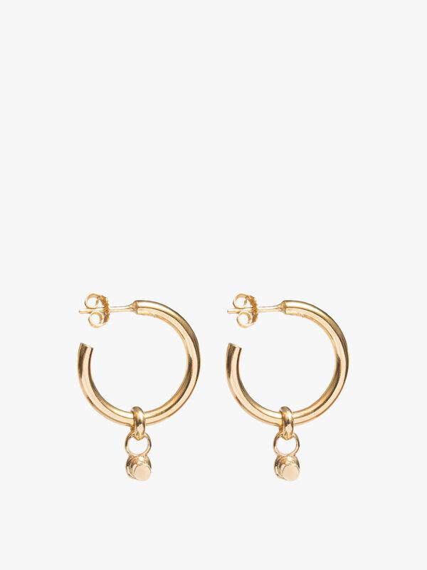 Medium Gold T-Bar Earrings