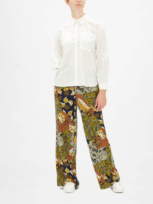 Button Down Woven Cotton Shirt