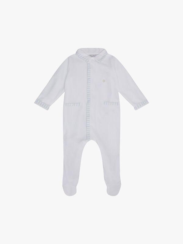 Stripe Trim Babygrow