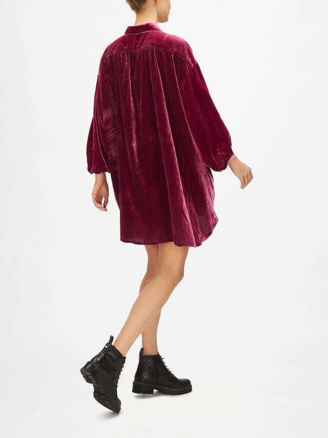 Lux Velvet Shirt Dress