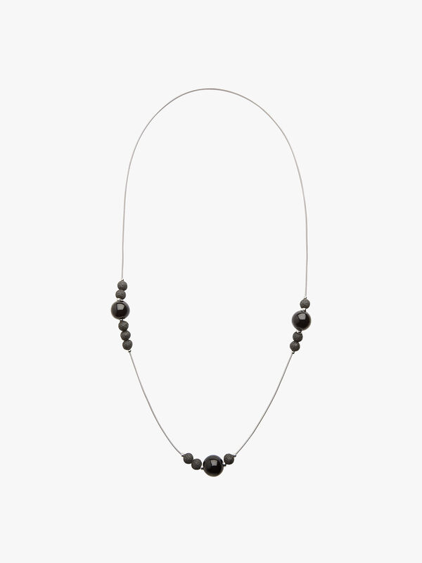 Cosmic Long Lava Bead Necklace