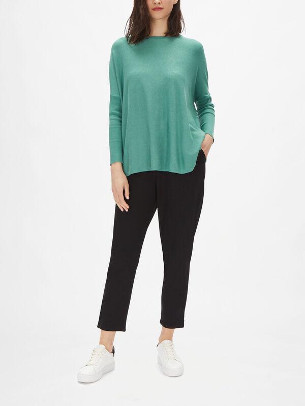 Fanasi Drop Shoulder Stretch Knit