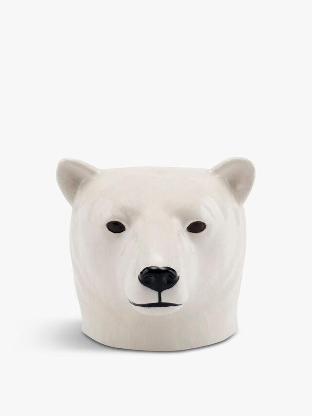 Polar Bear Face Egg Cup Pair