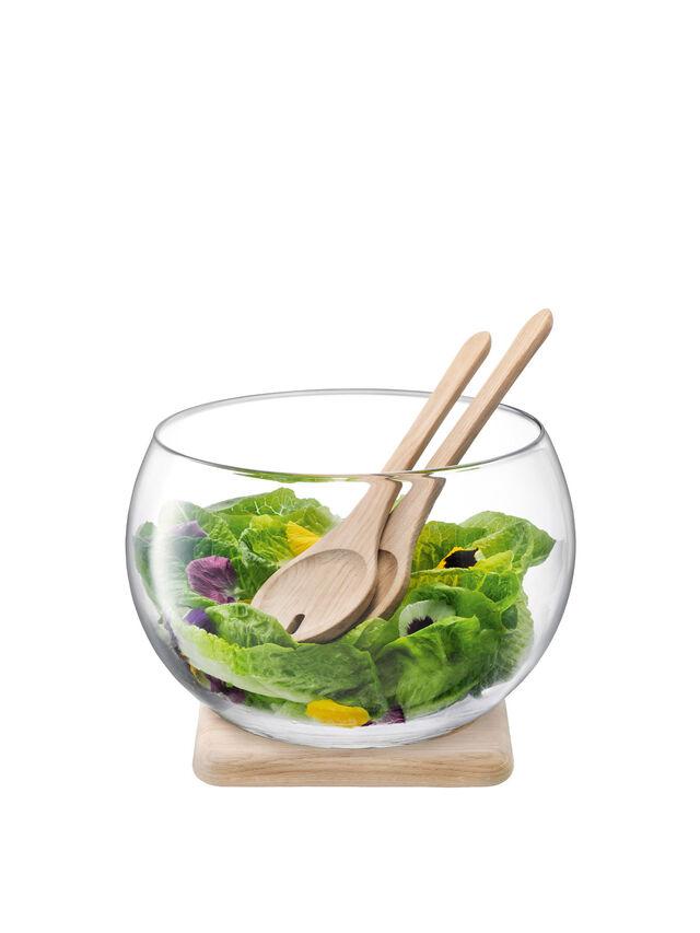 Serve Salad Set & Oak Base