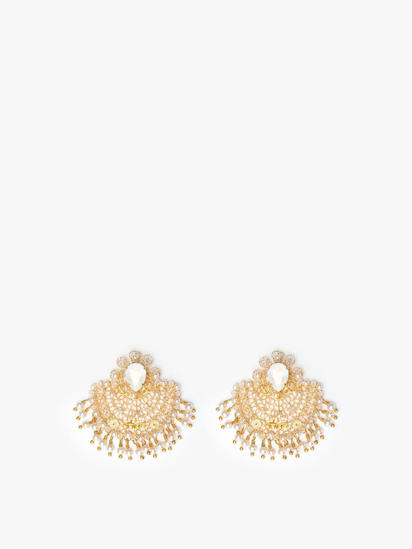 Filigree Earring Light Grey Delite