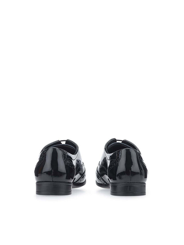 Matilda Black Patent School Shoes