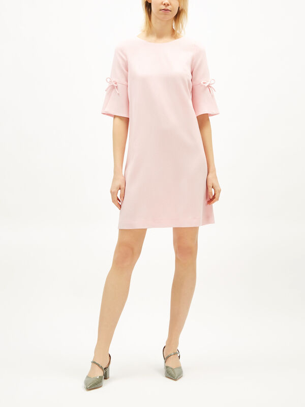 Irinna Tunic Dress with Bow Sleeve