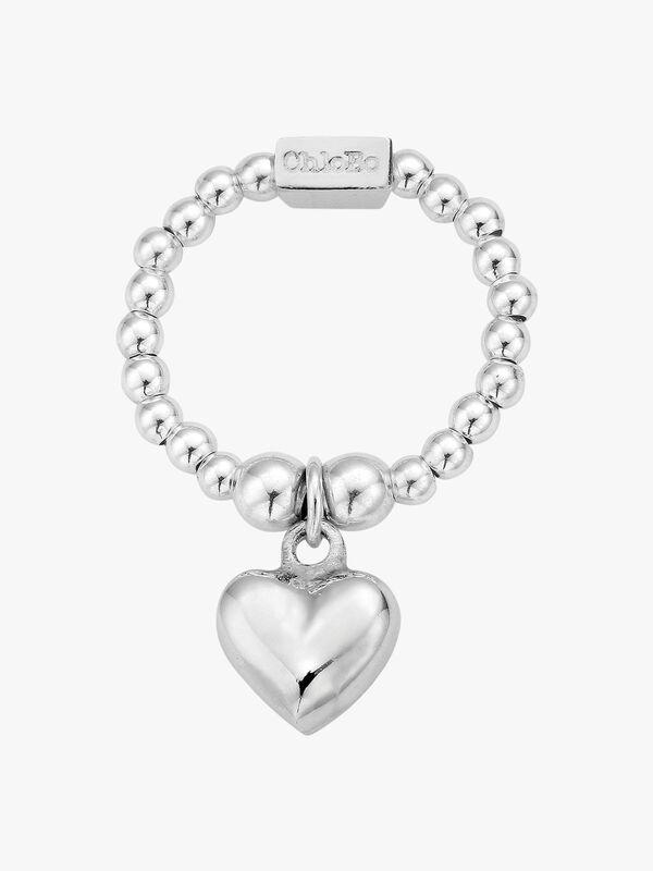 Mini Puffed Heart Ring
