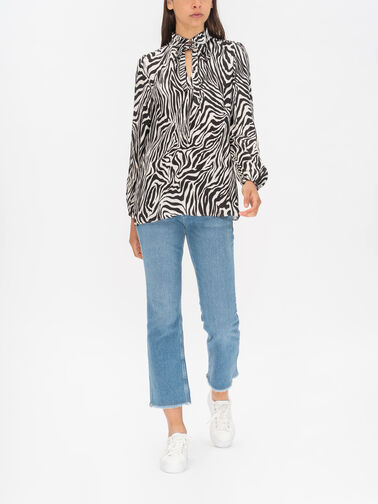 Soffiato-Printed-Long-Sleeve-Blouse-With-Neck-Tie-31110121P