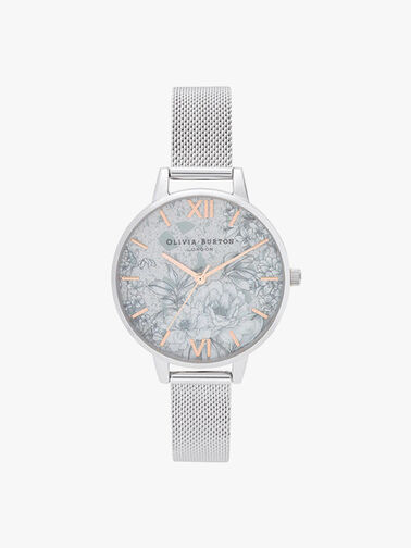 Terrazzo Floral Mesh Watch