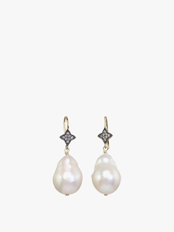 Pearl Sapphire Earrings