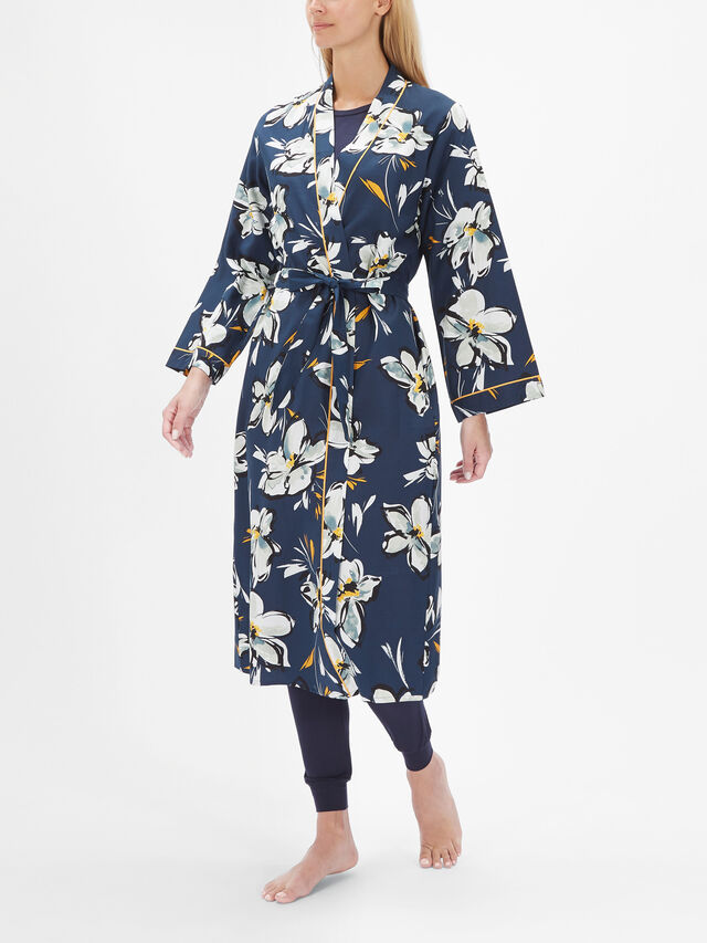 Alexa Floral Print Long Dressing Gown