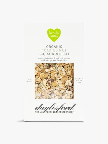 Organic Toasted Nut 3-Grain Muesli 450g