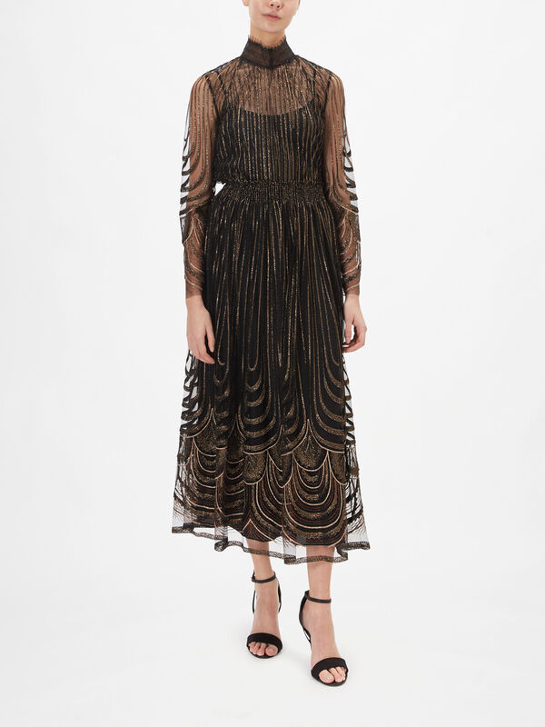 Fringed Embroidery Skirt
