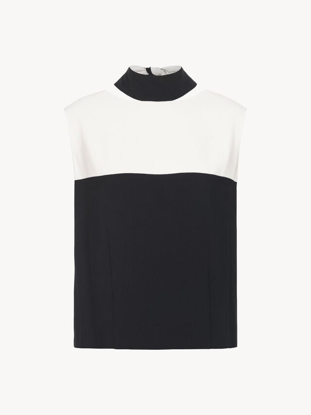 Contrast Top With Tie Back