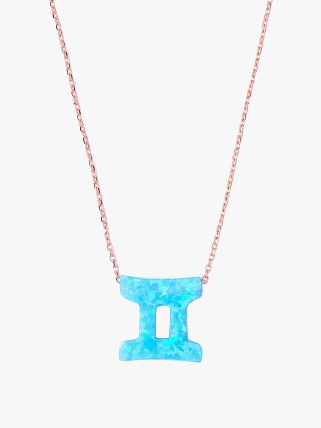 Opal Zodiac Gemini Necklace