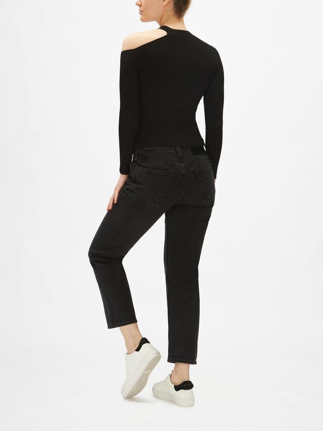 Soraya V Neck Cold Shoulder Sweater