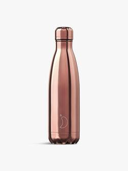 Chrome Rose Gold Water Bottle